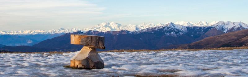 Panorama sui monti sopra Valcolla (CH)