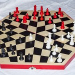 Una possibile partita a ThreeChess